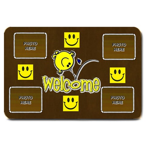 Smiley Welcome Mat, Large By Joy Johns   Large Doormat   Z16qrlfkuyk2   Www Artscow Com 30 x20 Door Mat - 1