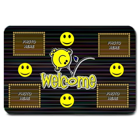 Large Smiley Welcome Mat By Joy Johns   Large Doormat   1zktnm5ewj5o   Www Artscow Com 30 x20 Door Mat - 1