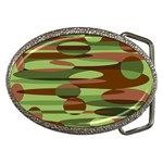 Green and Brown Spheres by Khoncepts.com Belt Buckle