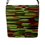 Green and Brown Spheres by Khoncepts.com Flap Closure Messenger Bag (Large)