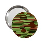 Green and Brown Spheres by Khoncepts.com 2.25  Handbag Mirror