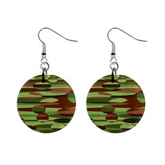 Green And Brown Spheres By Khoncepts Com 1  Button Earrings by Khoncepts
