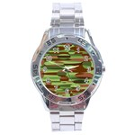 Green and Brown Spheres by Khoncepts.com Stainless Steel Analogue Men's Watch