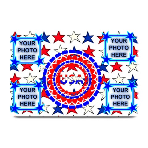 Usa Patriotic Plate Mate #2 By Joy Johns   Plate Mat   Il680eusrtyq   Www Artscow Com 18 x12 Plate Mat - 1