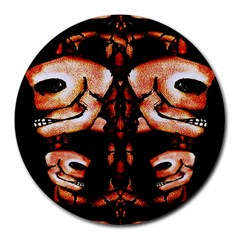 Skull Motif Ornament 8  Mouse Pad (round) by dflcprints