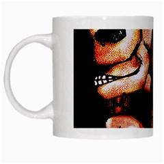 Skull Motif Ornament White Coffee Mug by dflcprints