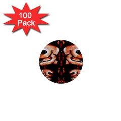 Skull Motif Ornament 1  Mini Button (100 Pack) by dflcprints