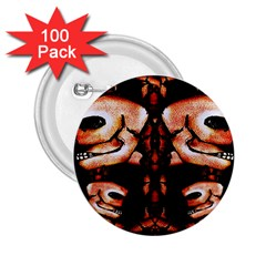 Skull Motif Ornament 2 25  Button (100 Pack) by dflcprints