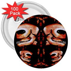 Skull Motif Ornament 3  Button (100 Pack) by dflcprints
