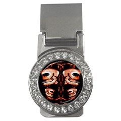 Skull Motif Ornament Money Clip (cz) by dflcprints