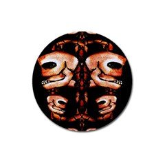 Skull Motif Ornament Magnet 3  (round) by dflcprints