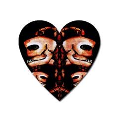 Skull Motif Ornament Magnet (heart) by dflcprints