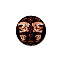 Skull Motif Ornament Golf Ball Marker 10 Pack by dflcprints