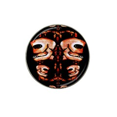 Skull Motif Ornament Golf Ball Marker 4 Pack (for Hat Clip) by dflcprints