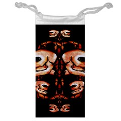 Skull Motif Ornament Jewelry Bag by dflcprints