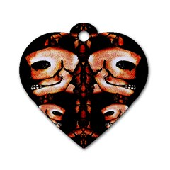 Skull Motif Ornament Dog Tag Heart (one Sided)  by dflcprints