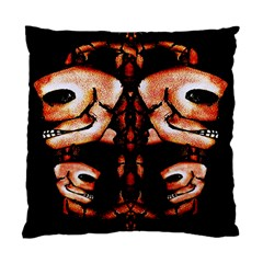 Skull Motif Ornament Cushion Case (single Sided)  by dflcprints