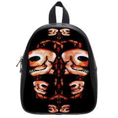 Skull Motif Ornament School Bag (small)