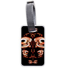 Skull Motif Ornament Luggage Tag (one Side) by dflcprints
