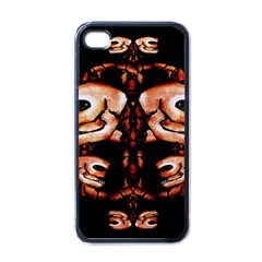 Skull Motif Ornament Apple Iphone 4 Case (black) by dflcprints