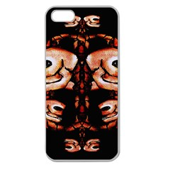 Skull Motif Ornament Apple Seamless Iphone 5 Case (clear) by dflcprints
