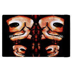 Skull Motif Ornament Apple Ipad 2 Flip Case by dflcprints