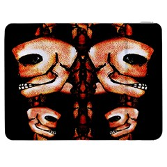 Skull Motif Ornament Samsung Galaxy Tab 7  P1000 Flip Case by dflcprints