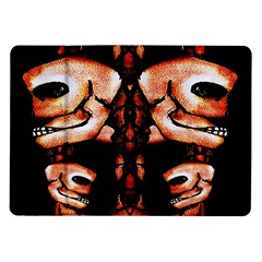 Skull Motif Ornament Samsung Galaxy Tab 10 1  P7500 Flip Case by dflcprints