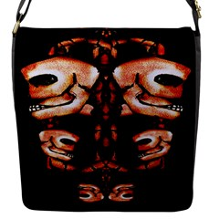Skull Motif Ornament Flap Closure Messenger Bag (small) by dflcprints