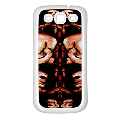 Skull Motif Ornament Samsung Galaxy S3 Back Case (white) by dflcprints