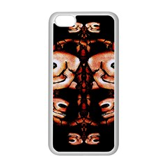 Skull Motif Ornament Apple Iphone 5c Seamless Case (white) by dflcprints