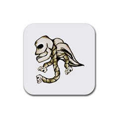 Angel Skull Drink Coaster (square) by dflcprints