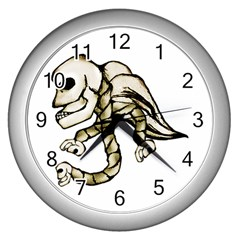 Angel Skull Wall Clock (silver) by dflcprints