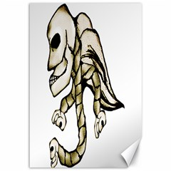 Angel Skull Canvas 12  X 18  (unframed) by dflcprints