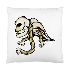 Angel Skull Cushion Case (single Sided)  by dflcprints