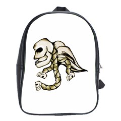 Angel Skull School Bag (large) by dflcprints