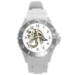 Angel Skull Plastic Sport Watch (large) by dflcprints