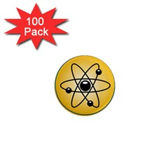 Atom Symbol 1  Mini Button Magnet (100 Pack) by StuffOrSomething