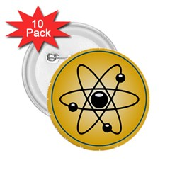 Atom Symbol 2 25  Button (10 Pack) by StuffOrSomething