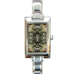 Winter Colors Collage Rectangular Italian Charm Watch by dflcprints