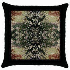 Winter Colors Collage Black Throw Pillow Case by dflcprints