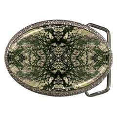 Winter Colors Collage Belt Buckle (oval) by dflcprints