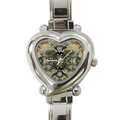 Winter Colors Collage Heart Italian Charm Watch  by dflcprints