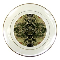 Winter Colors Collage Porcelain Display Plate by dflcprints