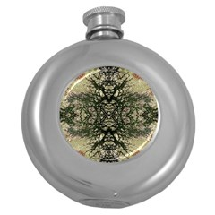 Winter Colors Collage Hip Flask (round) by dflcprints