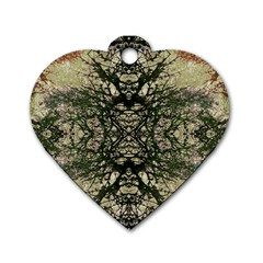 Winter Colors Collage Dog Tag Heart (two Sided) by dflcprints