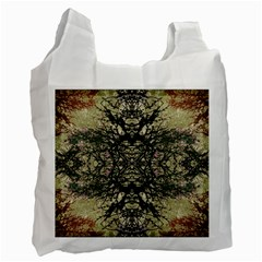 Winter Colors Collage White Reusable Bag (one Side) by dflcprints