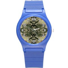 Winter Colors Collage Plastic Sport Watch (small) by dflcprints