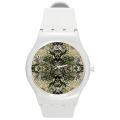 Winter Colors Collage Plastic Sport Watch (medium) by dflcprints