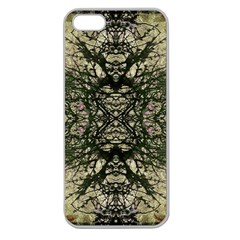 Winter Colors Collage Apple Seamless Iphone 5 Case (clear) by dflcprints
